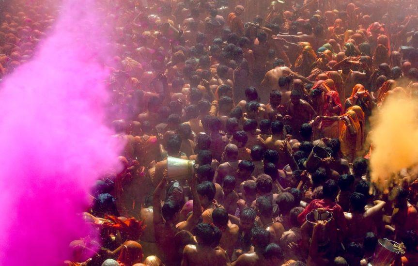 Holi Festival, Mathura, India 2011