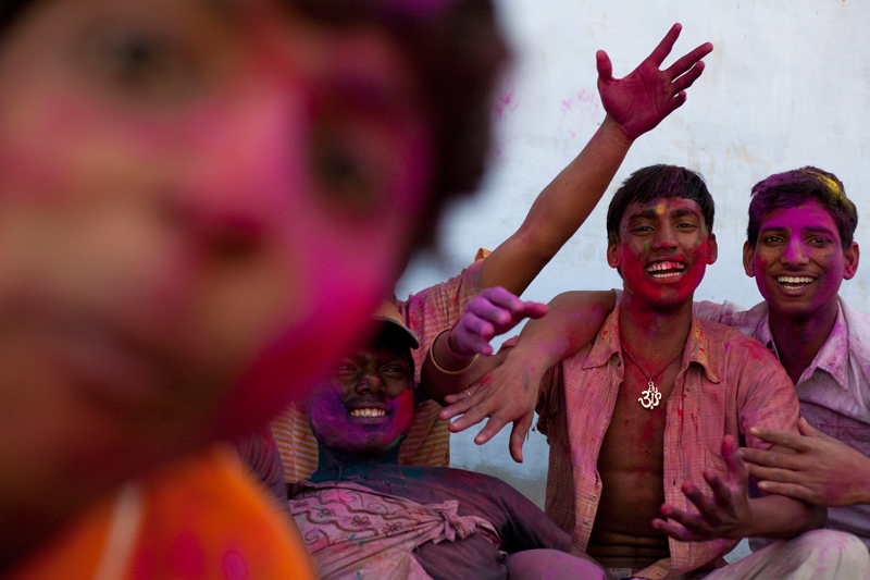 Back button focusing works well with Holi festival